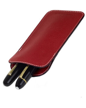 Genuine leather pen sleeve – 2 jumbo pens