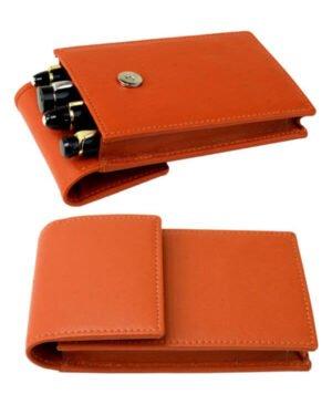 Bright tan pen pouch – 4 Jumbo Pens